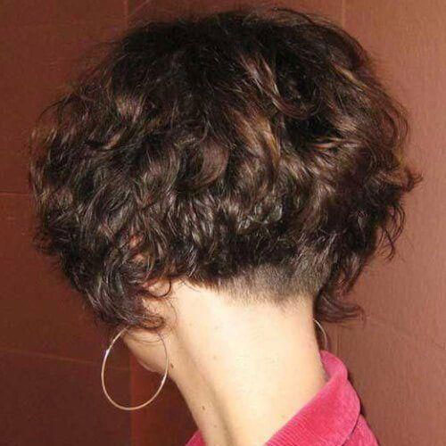 Short Curly Stacked Haircuts 2019-6