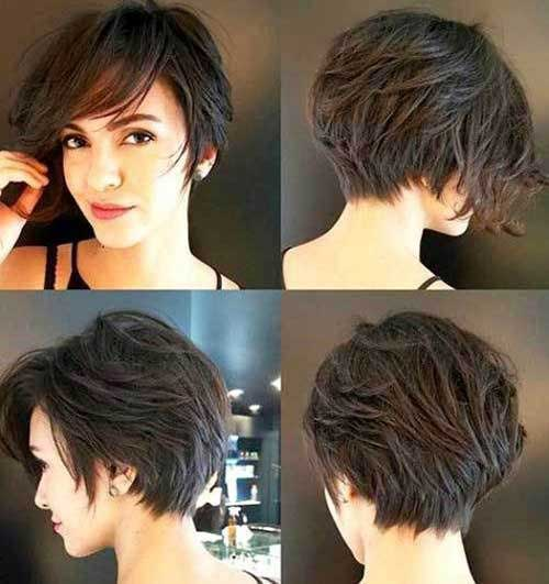 Short Haircuts for Women with Dark Brown Thick Hair-10