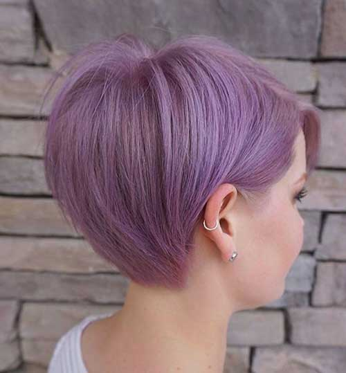Lilac Purple Long Pixie Cut Hairstyles-11