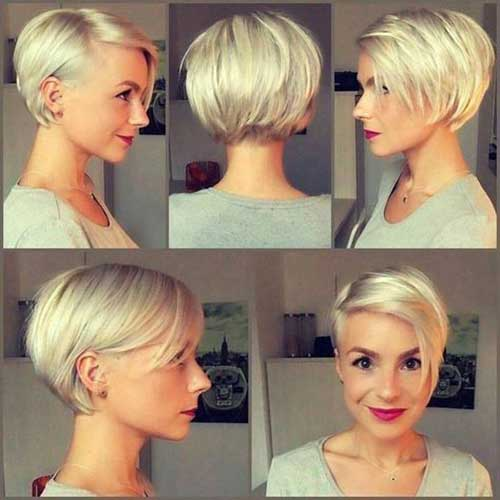 Platinum Blondelong Pixie Cut Hairstyles-12