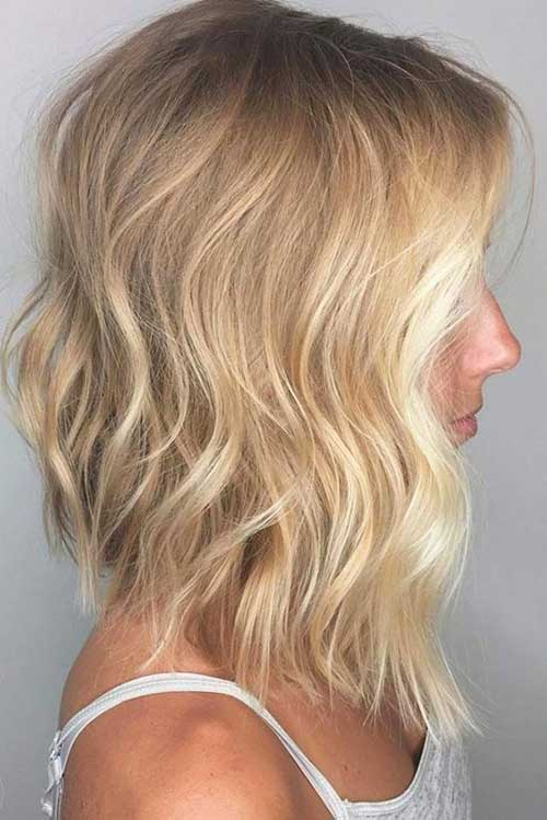 Blonde Long Bob Haircuts for Women-19