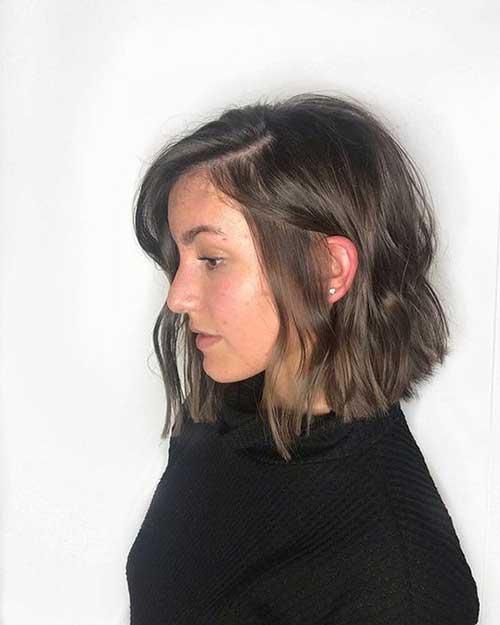 Dark Brown Short Haircuts for Thin Hair-6