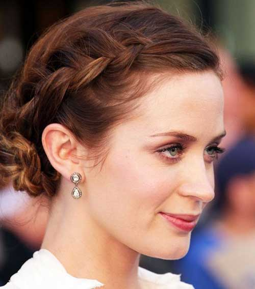 Easy Side Braided Bun Short Hairstyles-6