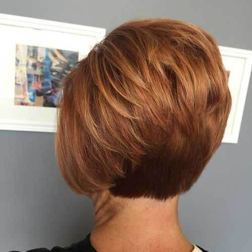 Short Stacked Hairstyles Back View-6