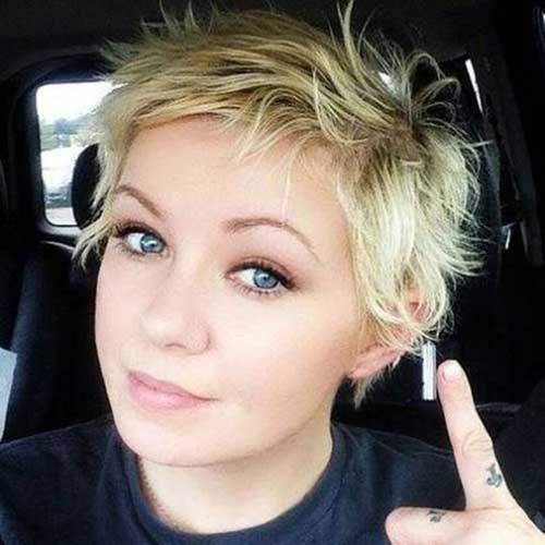 Choppy Hairstyles for Round Faces-7