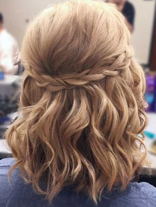 Easy Half Braid Short Hairstyles-7