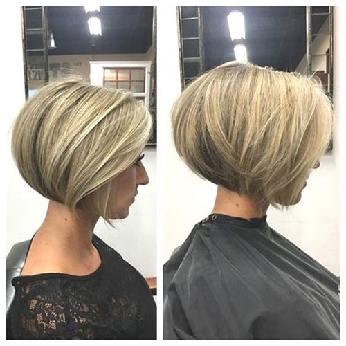 Short Stacked Bob Hairstyles-8