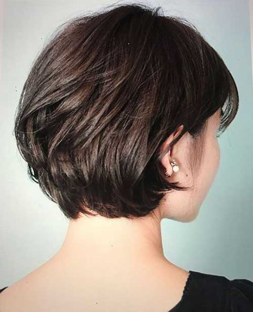 Short Haircuts Back View for Women with Thick Hair-9