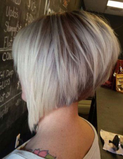 Very Short Stacked Haircut