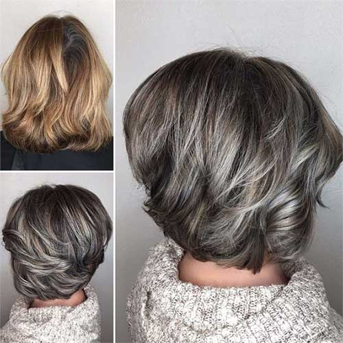 Short Graduated Bob Haircuts for Women Over 50-10