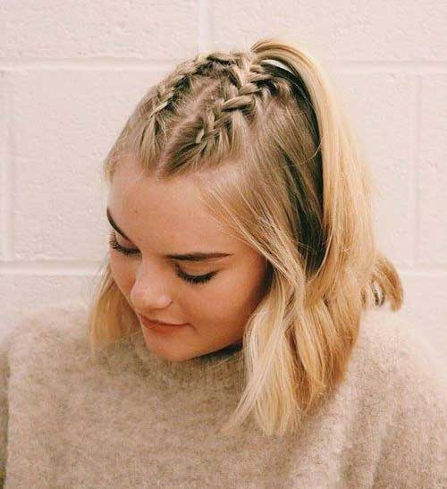 Cute Braided Hairstyles for Short Hair-13