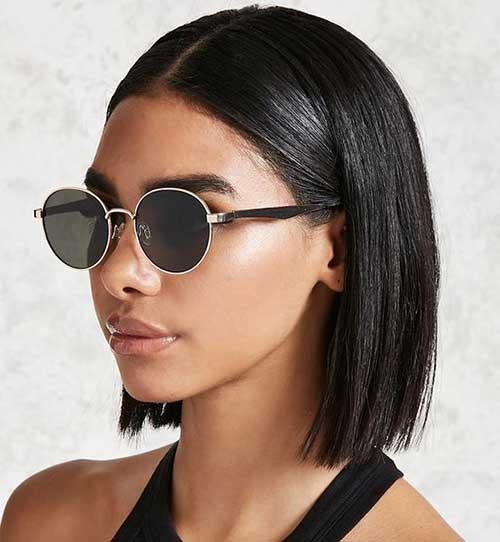 Cute Hairstyles for Short Straight Hair-14