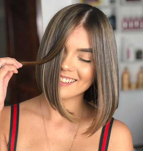 Cute Hairstyles for Short Straight Hair-16