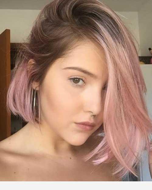 Cute Hairstyles for Short Straight Hair-17