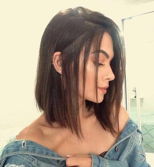 Cute Hairstyles for Short Straight Hair-18