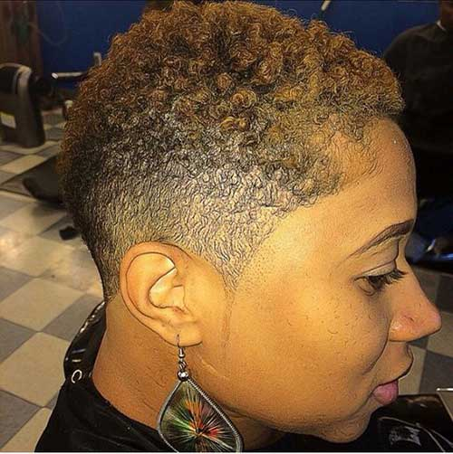 Short Natural Haircuts for Black Women-19