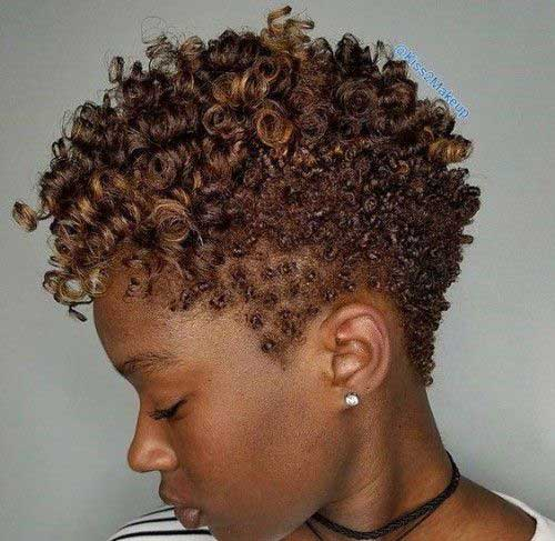 Short Natural Haircuts for Black Women-9