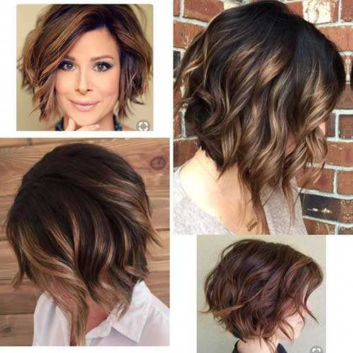 Short Layered Wavy Hair