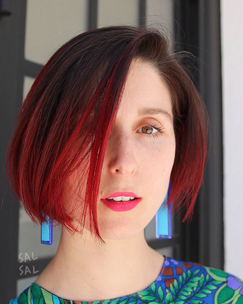 Red Hair Short Cut