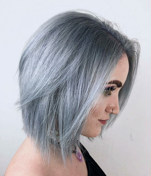 Silver Hair Color For Short Hair