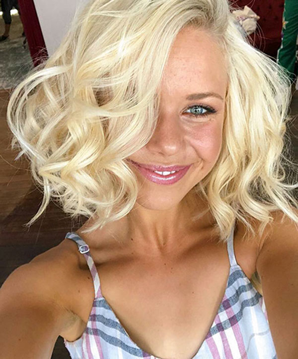 Short Haircuts For Curly Blonde Hair