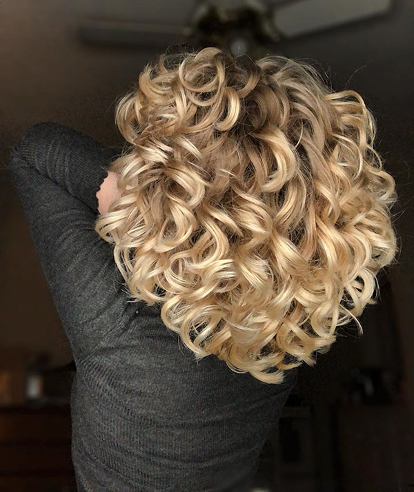 Blonde Curly Short Haircuts