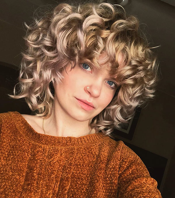 Blonde Short Curly Hair