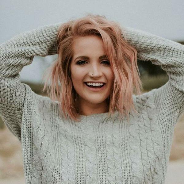 Short Rose Hair Color Ideas