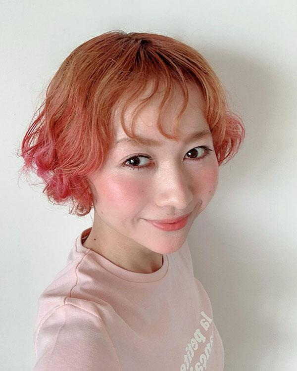 Rose Hair Color For Short Hair